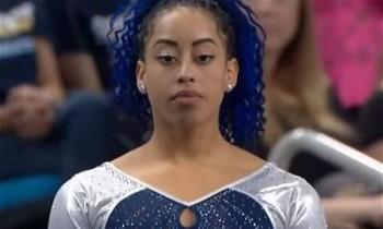 UCLA's Sophina DeJesus Redefining Flooring Gymnastics; Dab, Whip, Nae-Nae Routine Goes Viral, Group Ekes Out Victory