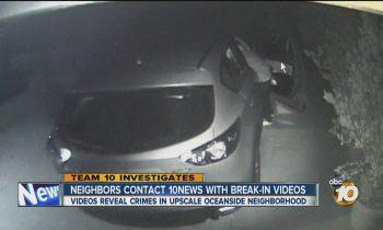 Movies element crime spree in upscale Oceanside neighborhood